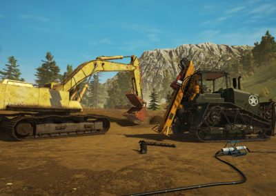 Golden Excavator And Drill
